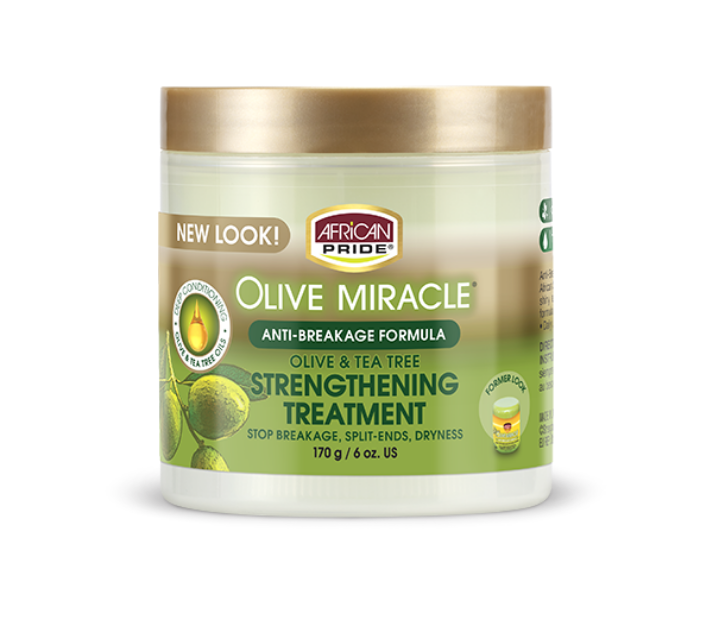 African Pride Olive Miracle Olive & Tea Tree Strengthening Treatment 6oz