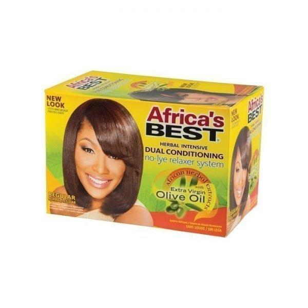 Africa's Best Herbal Intensive Dual Conditioning No-Lye Relaxer System Regular