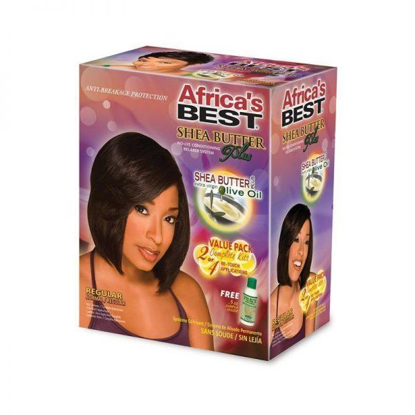 Africa's Best Shea Butter Plus No-Lye Conditioning Relaxer System Regular