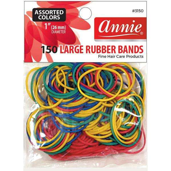 "Annie 150 Large Rubber Bands #3150 1"" Assorted Colors"