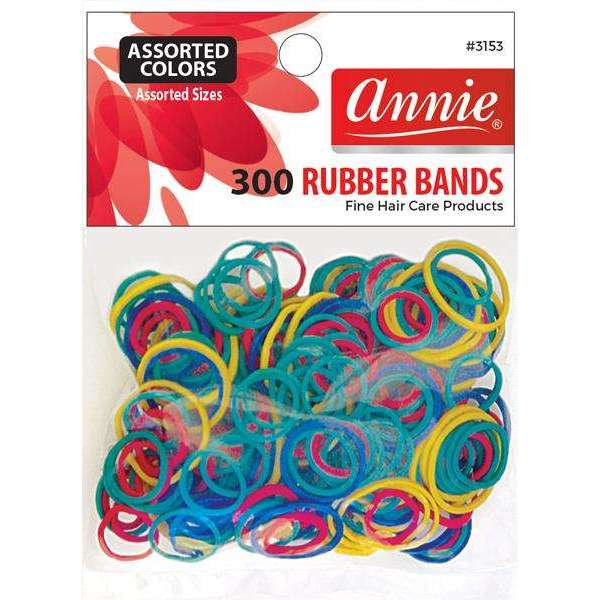 Annie 300 Rubber Bands #3153 Assorted Sizes Assorted Colors