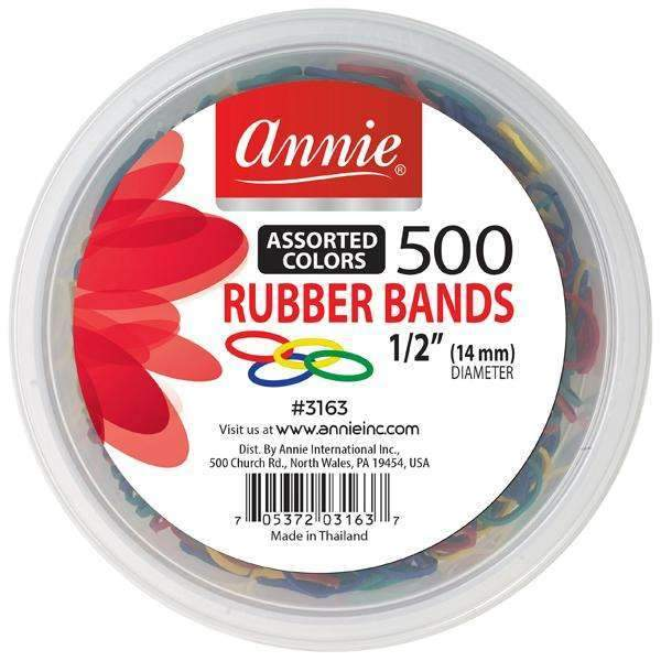 "Annie 500 Rubber Bands #3163 1/2"" Assorted Colors"