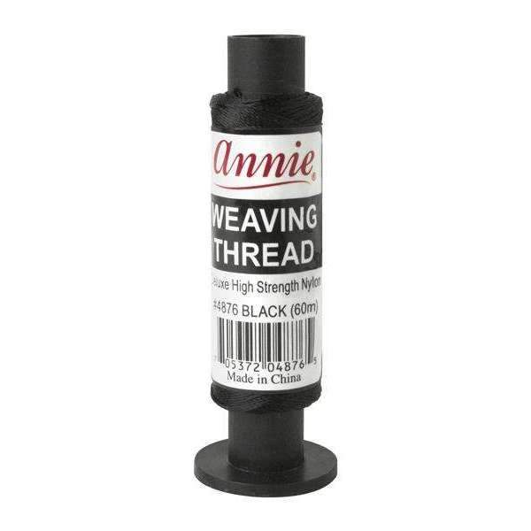 Annie Deluxe High Strength Nylon Weaving Thread 60M #4876 Black