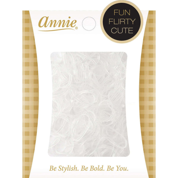 Annie Elastic Bands 250Ct #8552 Clear