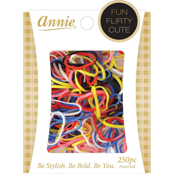 Annie Elastic Bands 250Ct #8553 Assorted