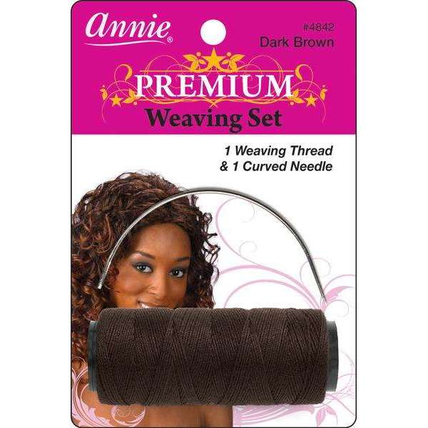Annie Premium Weaving Set 1 Weaving Thread & 1 Curved Needle #4842 Dark Brown