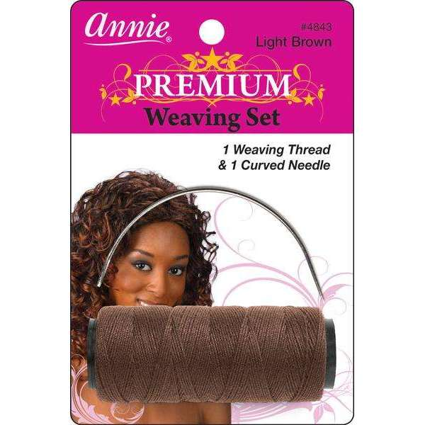 Annie Premium Weaving Set 1 Weaving Thread & 1 Curved Needle #4843 Light Brown