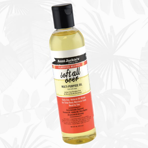 Aunt Jackie's Flaxseed Recipes Soft All Over Multi-Purpose Oil 8oz