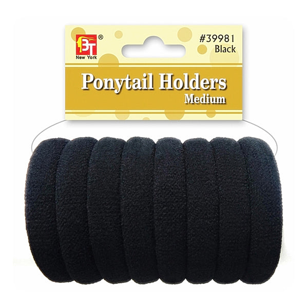 Beauty Town Ponytail Holders Medium Black #39981