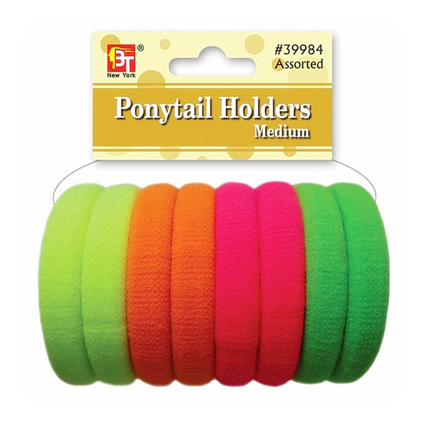 Beauty Town Ponytail Holders Medium Neon Assorted #39984