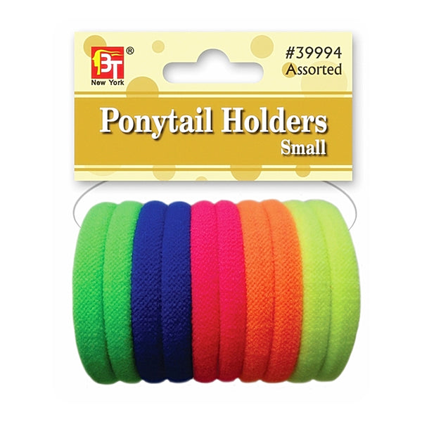 Beauty Town Ponytail Holders Small Neon Assorted #39994
