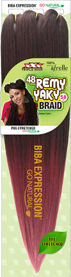 "Biba Expression 48"" Triple Remy Yaky Braid"