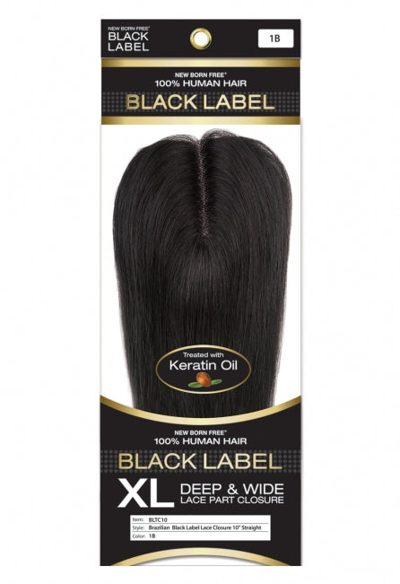 Black Label 100% Human Hair Lace Closure Straight