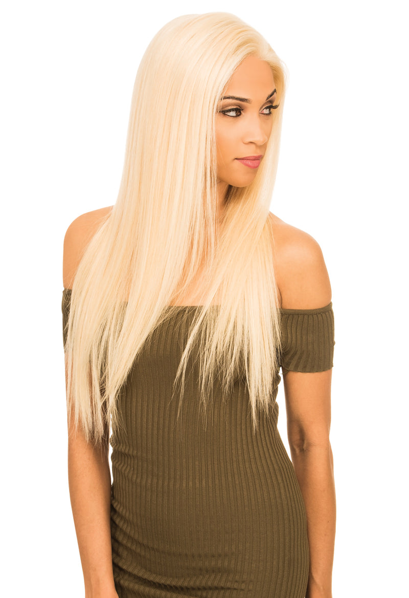 Chade Ali 10A Unprocessed Virgin Brazilian Remi Human Hair Full Lace Wig Straight