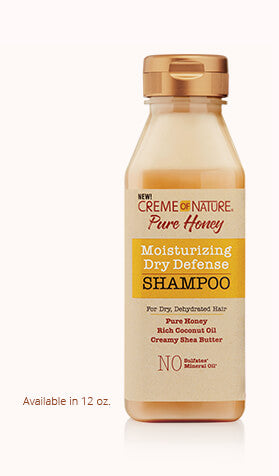Creme Of Nature Pure Honey Moisturizing Dry Defense Shampoo 12oz