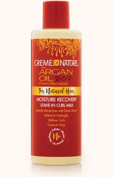 Creme Of Nature Argan Oil For Natural Hair Moisture Recovery Leave-In Curl Milk 8oz