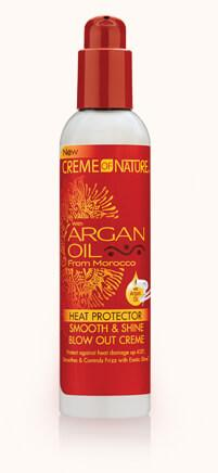 Creme Of Nature Argan Oil Heat Protector Smooth & Shine Blow Out Creme 8oz