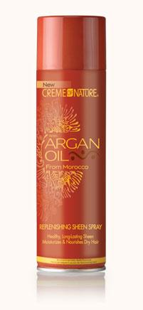 Creme Of Nature Argan Oil Replenishing Sheen Spray 11.25oz