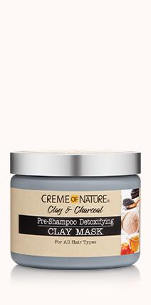 Creme Of Nature Clay & Charcoal Pre-Shampoo Detoxifying Clay Mask 11.5oz