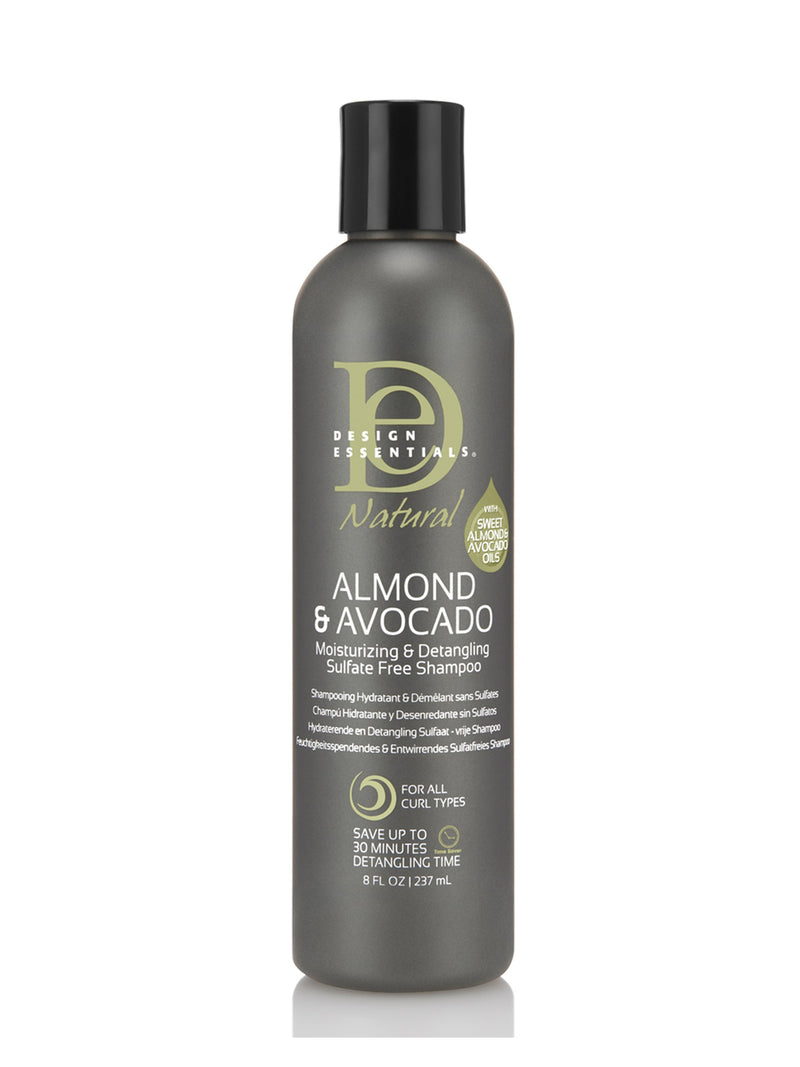 Design Essentials Almond & Avocado Moisturizing & Detangling Sulfate-Free Shampoo