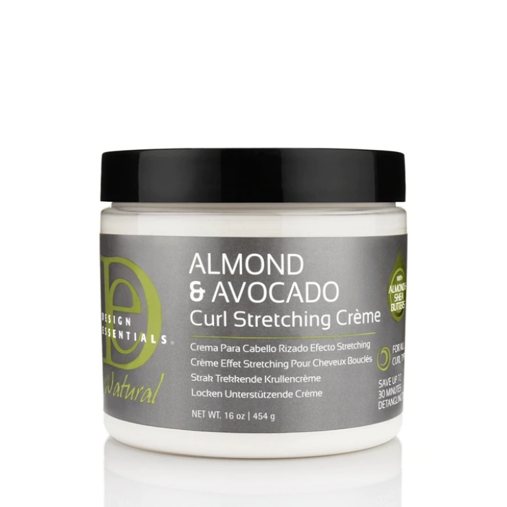 Design Essentials Natural Almond & Avocado Curl Stretching Creme 16oz