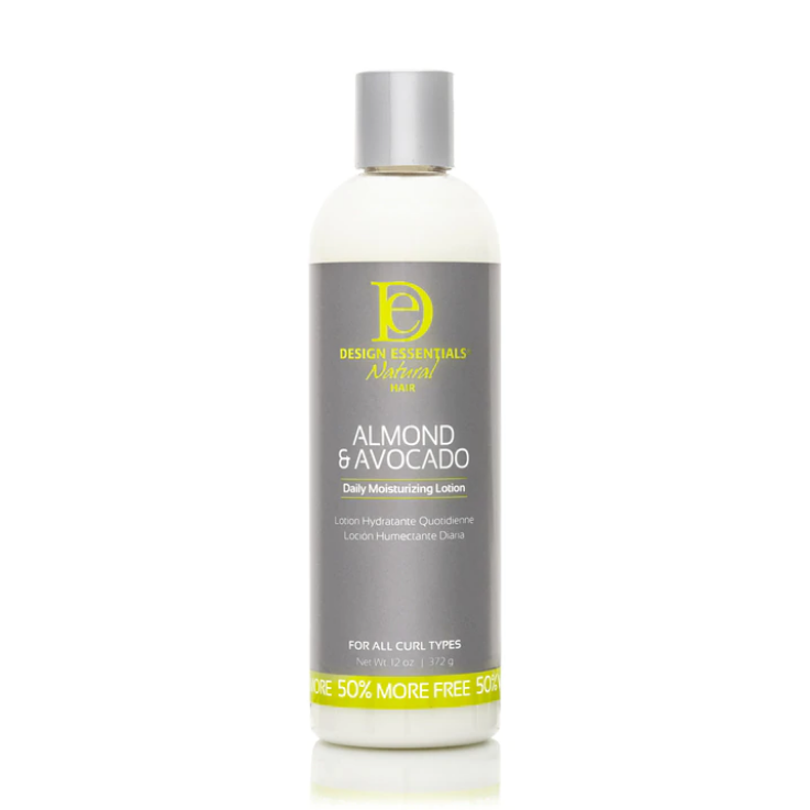 Design Essentials Natural Almond & Avocado Daily Moisturizing Lotion 12oz