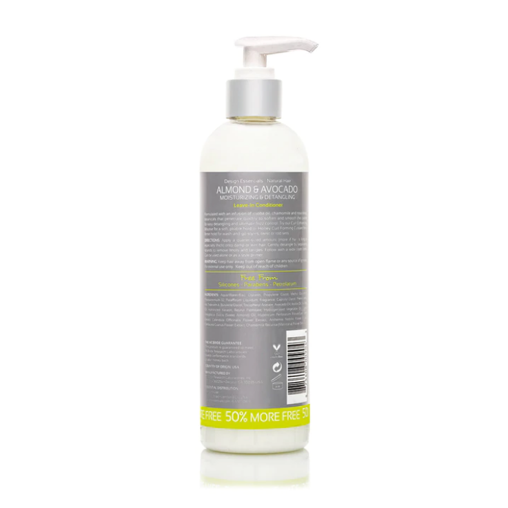 Design Essentials Natural Almond & Avocado Detangling Leave-In Conditioner 12oz