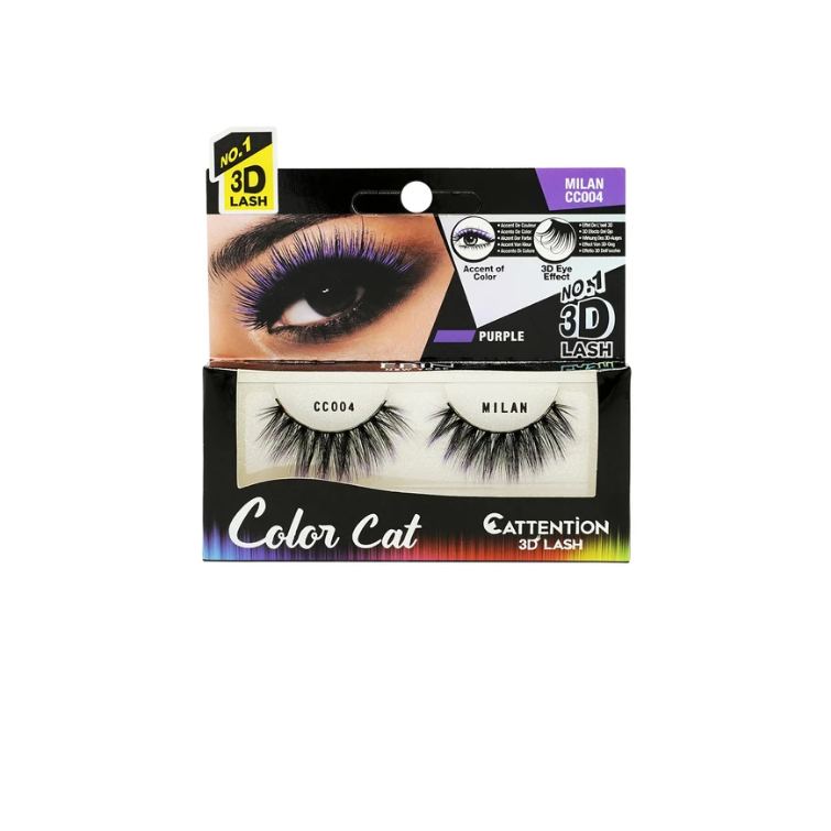 Ebin New York Color Cat Cattention 3D Lashes CC004 Milan