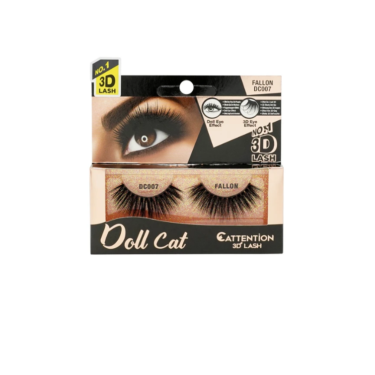 Ebin New York Doll Cat Cattention 3D Lashes DC007 Fallon
