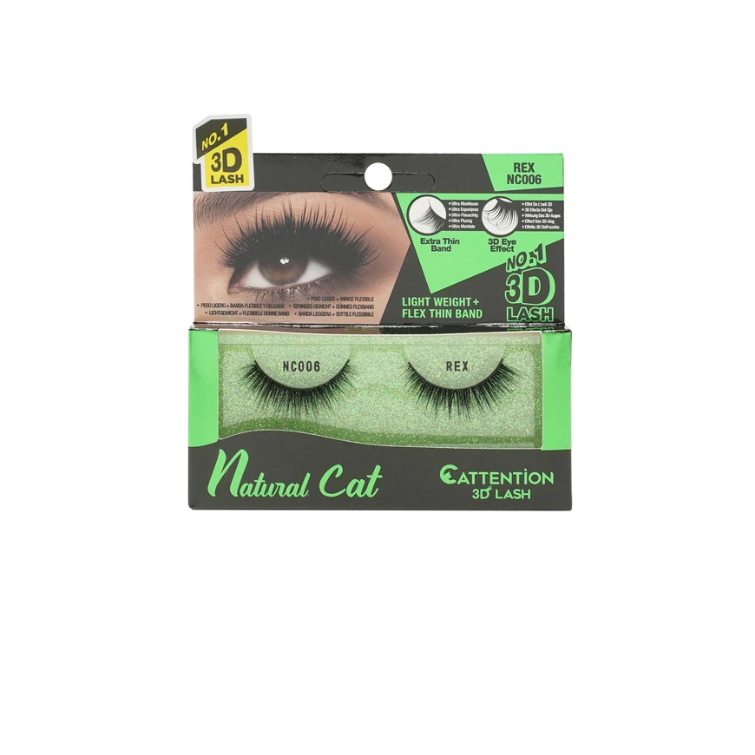 Ebin New York Natural Cat Cattention 3D Lashes NC006 Rex