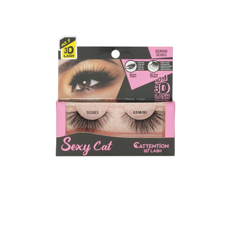 Ebin New York Sexy Cat Cattention 3D Lashes SC003 Gemini