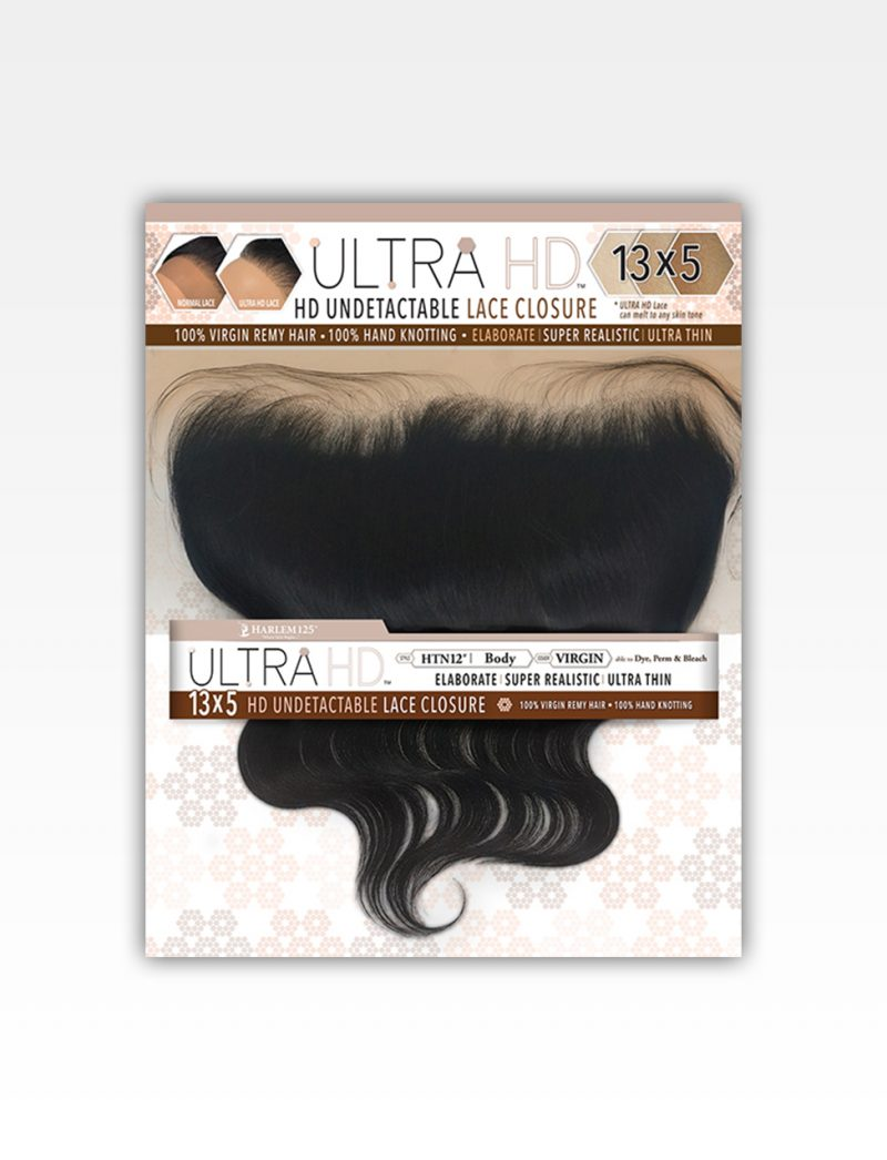 "Harlem 125 100% Virgin Remy Human Hair Ultra HD 13""X5"" HD Undetectable Lace Closure Body"