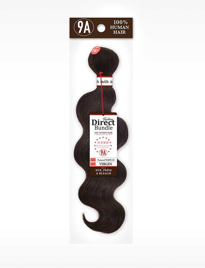 Harlem 125 Factory Direct Bundle 9A Human Hair Weave Natural Wave 18""