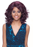 Harlem 125 Kima Lace Wig Deep Part Synthetic Hair Lace Wig KLW01 Ocean Wave Short