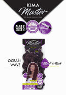 "Harlem 125 Kima Master Synthetic Hair Weave Ocean Wave 14"" 16"" 18"" 18"" + Free Closure"