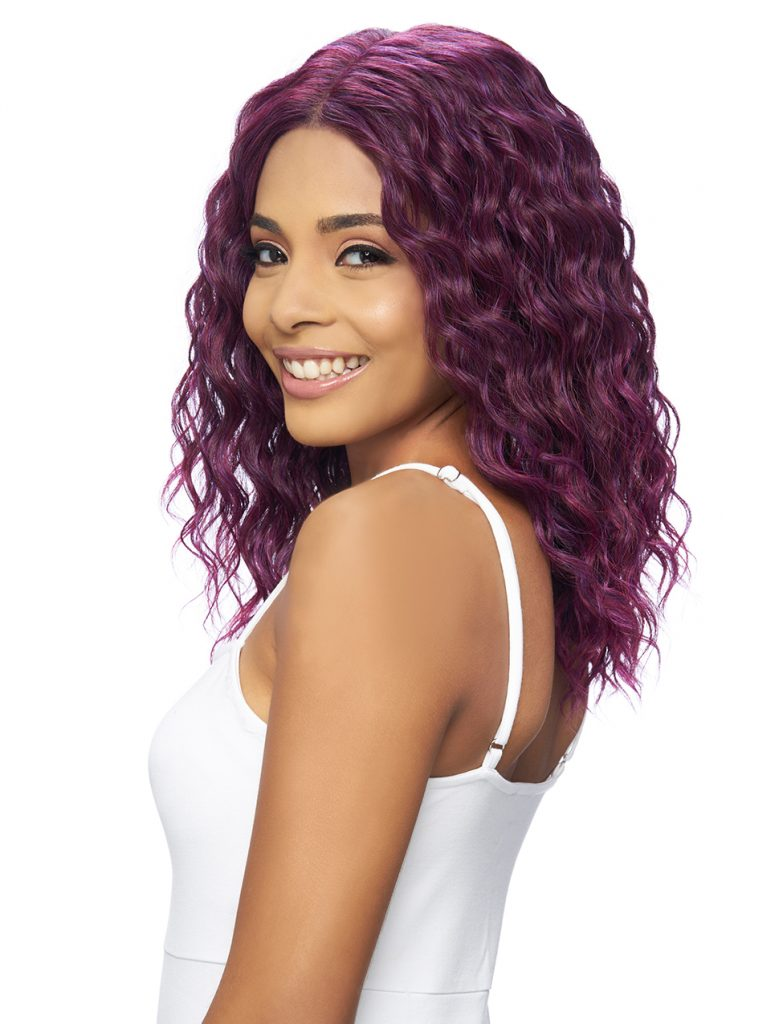 Harlem 125 Swiss Lace Wig Synthetic Hair Deep Part Wig LSD65