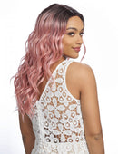 Harlem 125 Swiss Lace Wig Synthetic Hair Deep Part Wig LSD68