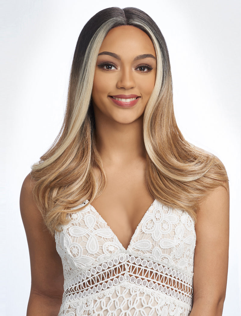 Harlem 125 Swiss Lace Wig Synthetic Hair Deep Part Wig LSD69