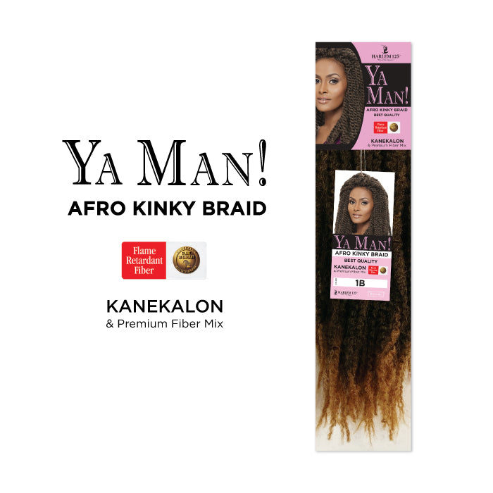 Harlem 125 Ya Man! Afro Kinky Braid 18""