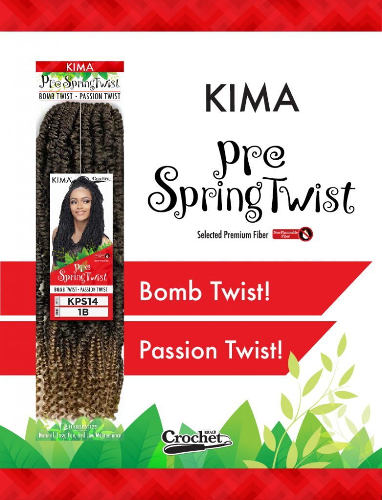 Harlem 125 Kima Braid Synthetic Hair Crochet Pre Spring Twist 14″