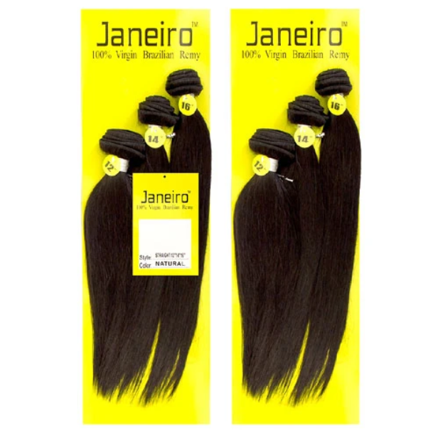 Janeiro 9A 100% Virgin Brazilian Remy Human Hair Bundles 3Pcs Straight