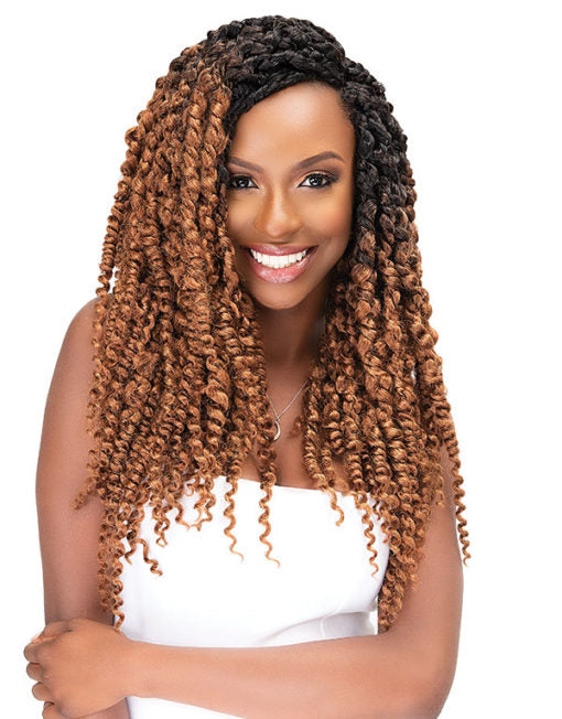 Janet Collection Nala Tress Synthetic Hair Crochet Boho Twist Braid 18""