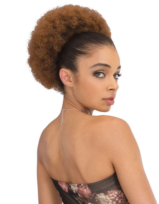 Janet Collection Noir Everytime Synthetic Hair Drawstring Ponytail Afro Lady