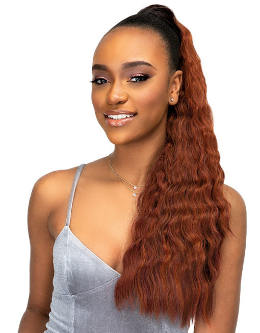 Janet Collection Noir Everytime Synthetic Hair Drawstring Ponytail Banana
