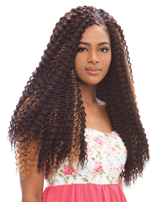 Janet Collection Noir Synthetic Hair Crochet Brazilian Braid 24""