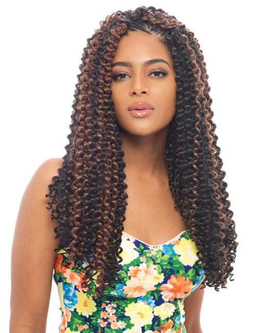 Janet Collection Noir Synthetic Hair Crochet Water Wave Braid 24""