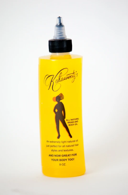 Kalawentz's Black & Bossie All Natural Braid And Body Oil 8oz