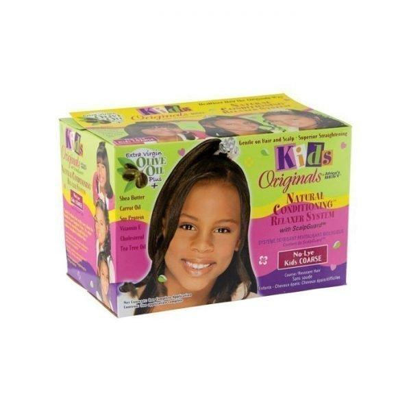 Kids Originals By Africa's Best Natural Conditioning No-Lye Relaxer System With ScalpGuard Coarse