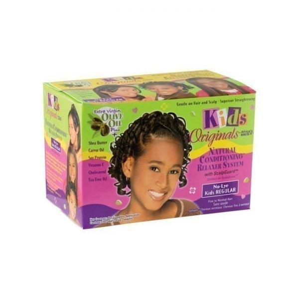 Kids Originals By Africa's Best Natural Conditioning No-Lye Relaxer System With ScalpGuard Regular