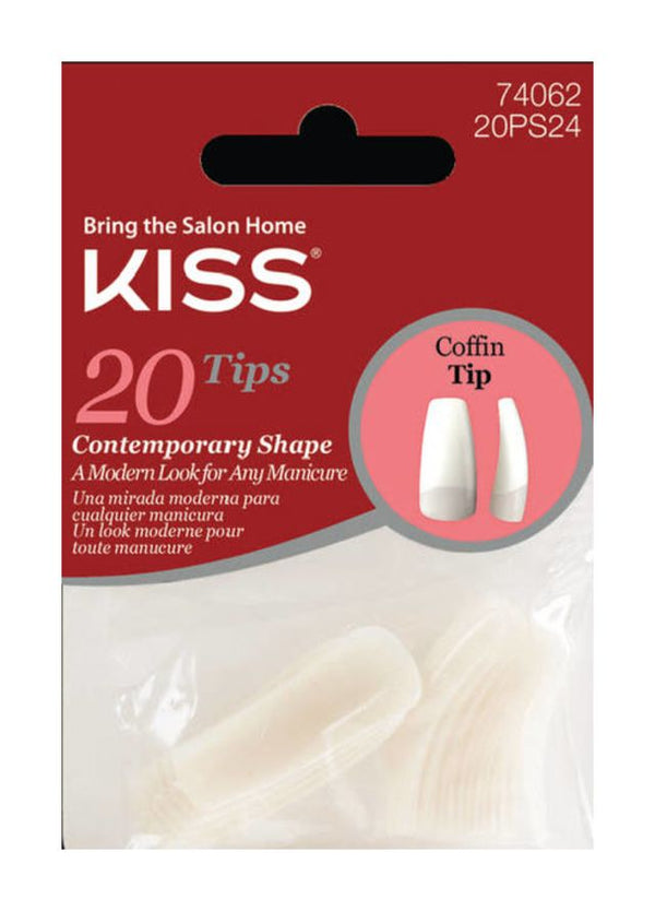 Kiss 20 Tips Nails Coffin Tip